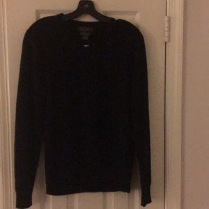 Black Brown 1826 Black Cashmere Sweater